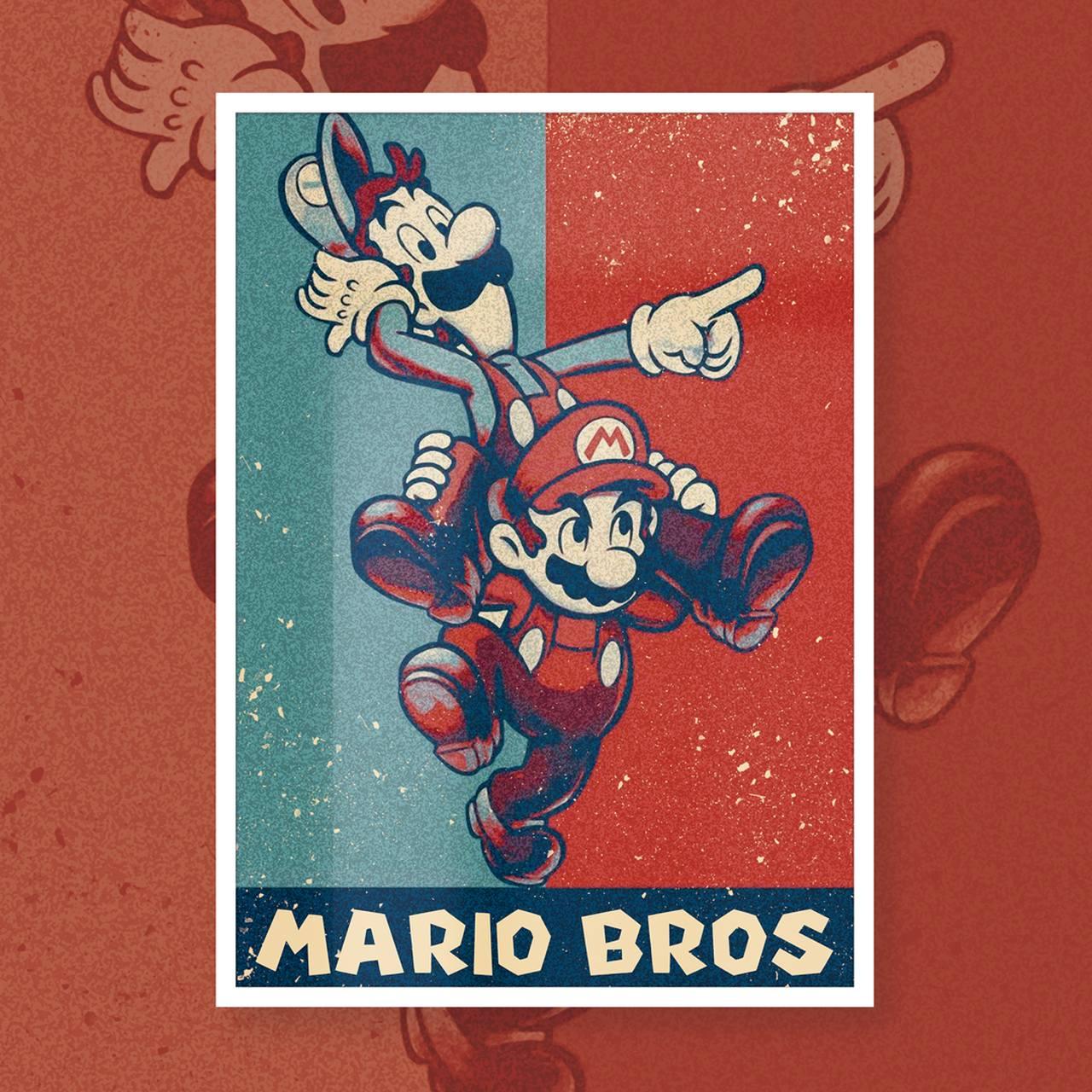Quadro Mario e Luigi: Super Mario Bros - EV