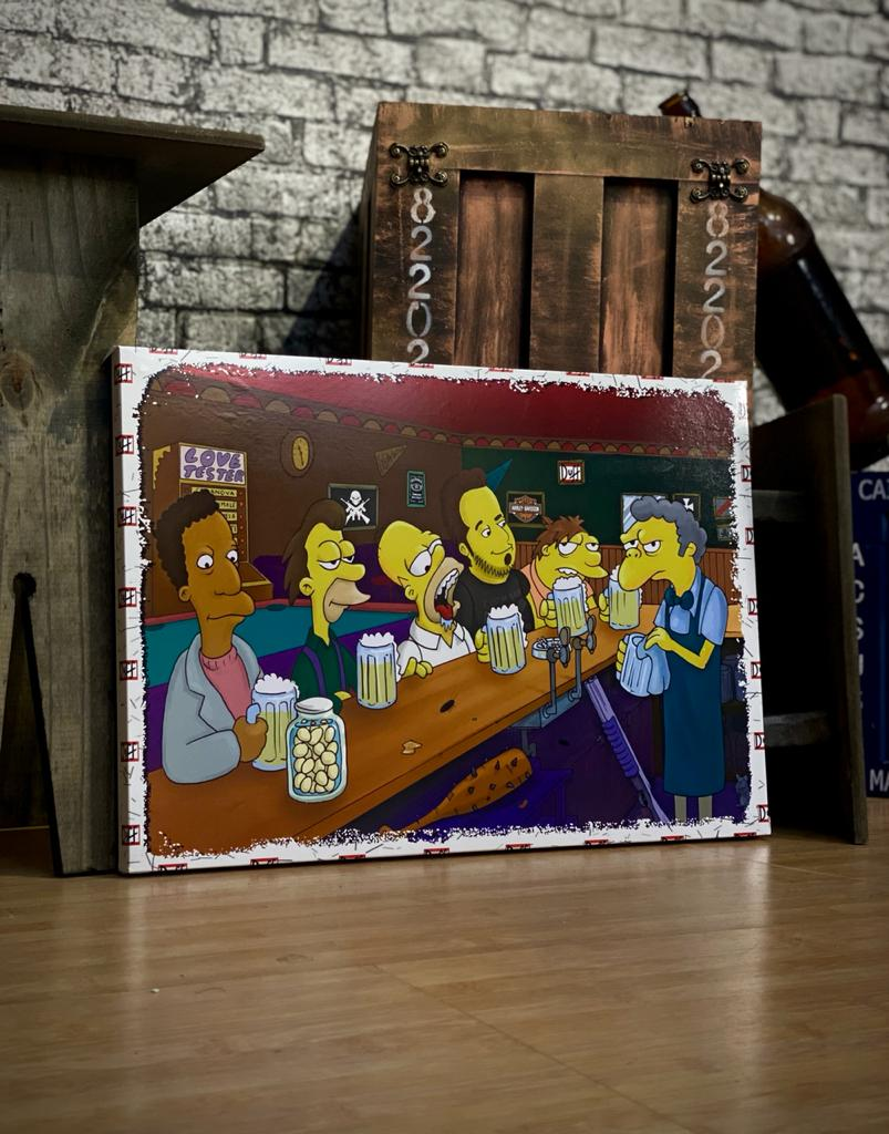 Quadro Metal Bar do Moe Duff - 30x40cm