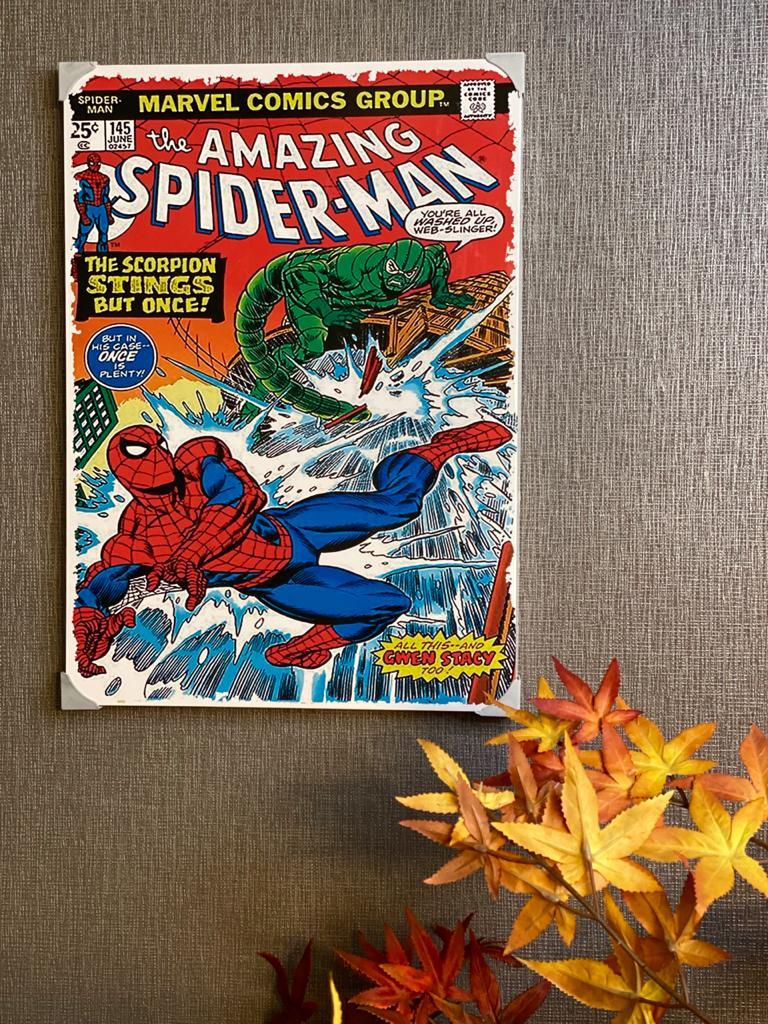 Quadro Metal: Capa Quadrinho Spider - Man Nº 145 - Marvel 41x30