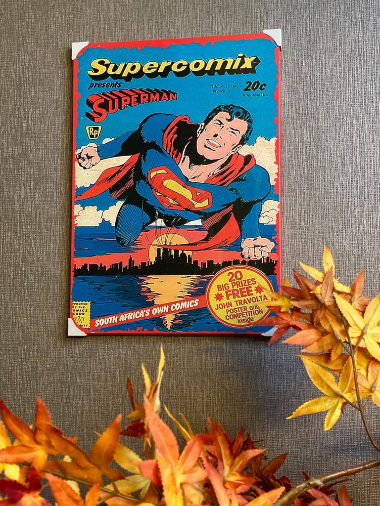 Quadro Metal: Capa Quadrinho Superman Nº 1 - Dc Comics 41x30