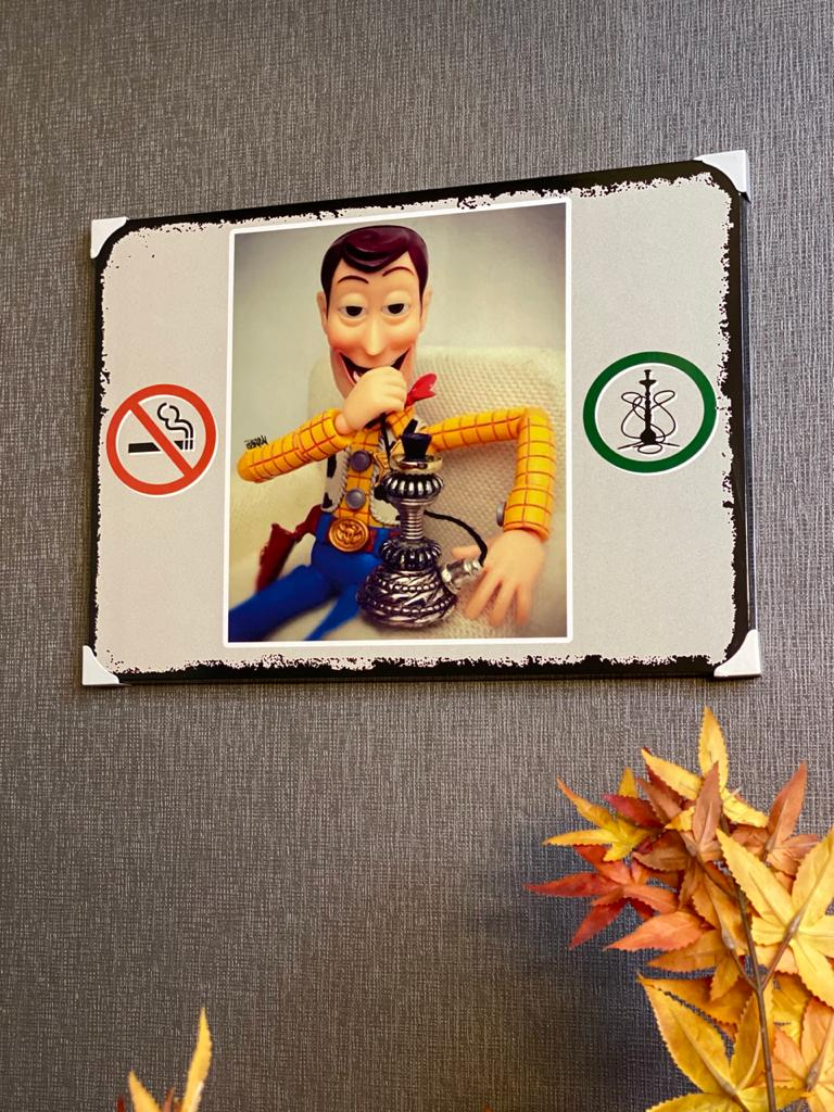 Quadro Metal: Woody Narguile - Toy Story 41x30