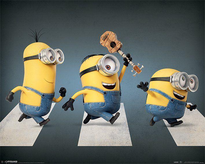 Quadro Minions Abbey Road - Wall Street Posters
