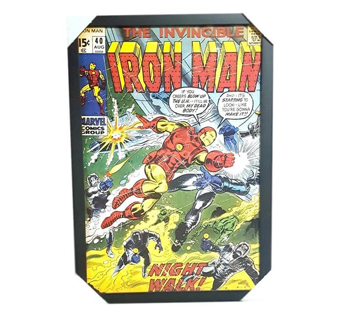 Quadro Moldurado - Iron Man Capa Comics