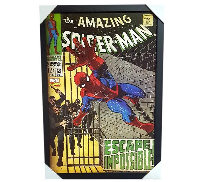 Quadro Moldurado - Spider Man Capa Comics