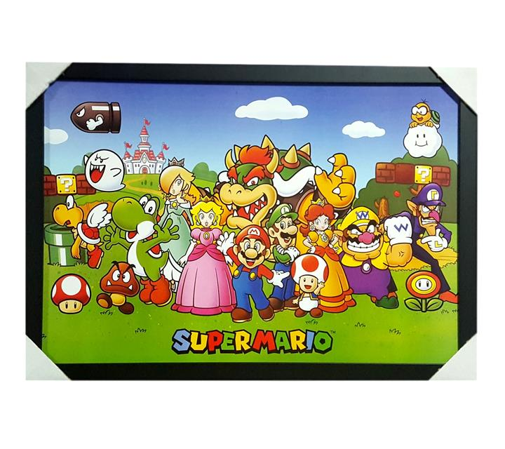 Quadro Moldurado - Super Mario
