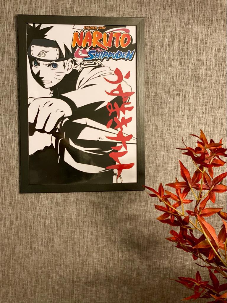 Quadro Naruto Uzumaki: Naruto Shippuden (Preto E Branco)