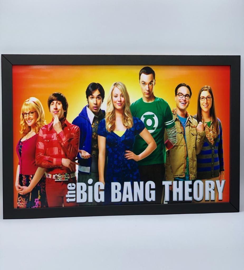 Quadro Personagens: Big Bang A Teoria (The Big Bang Theory) - 34x23