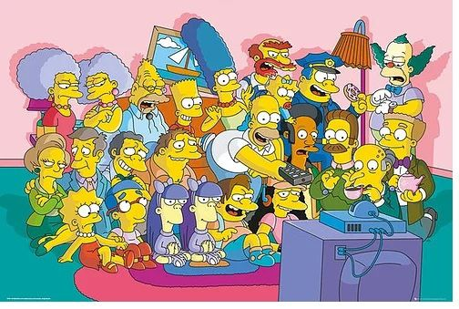 Quadro (Poster) Personagens: Os Simpsons (The Simpsons) - Wall Street Posters