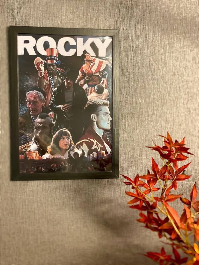 Quadro Com Moldura Personagens Rocky 44x33 - EV