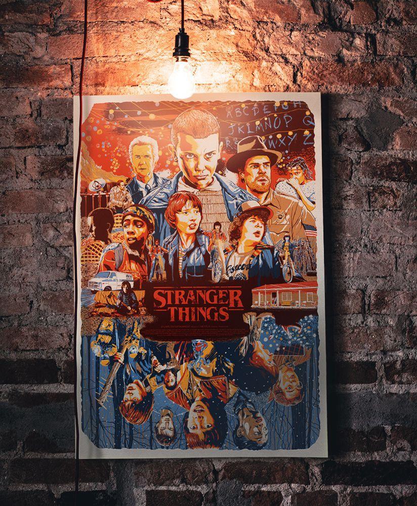 Quadro Personagens: Stranger Things