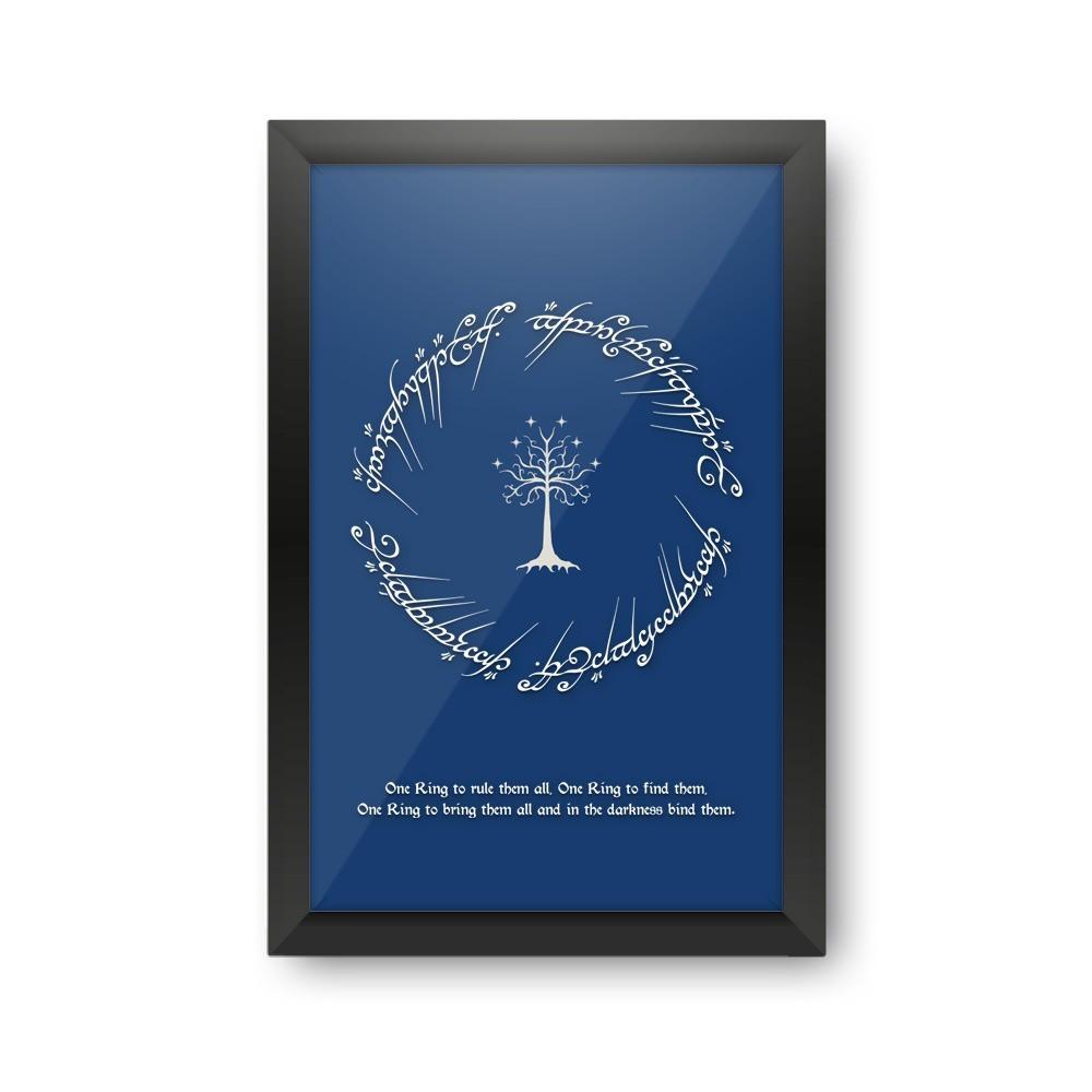 Quadro Porta Rolha Senhor Dos Anéis (Azul)