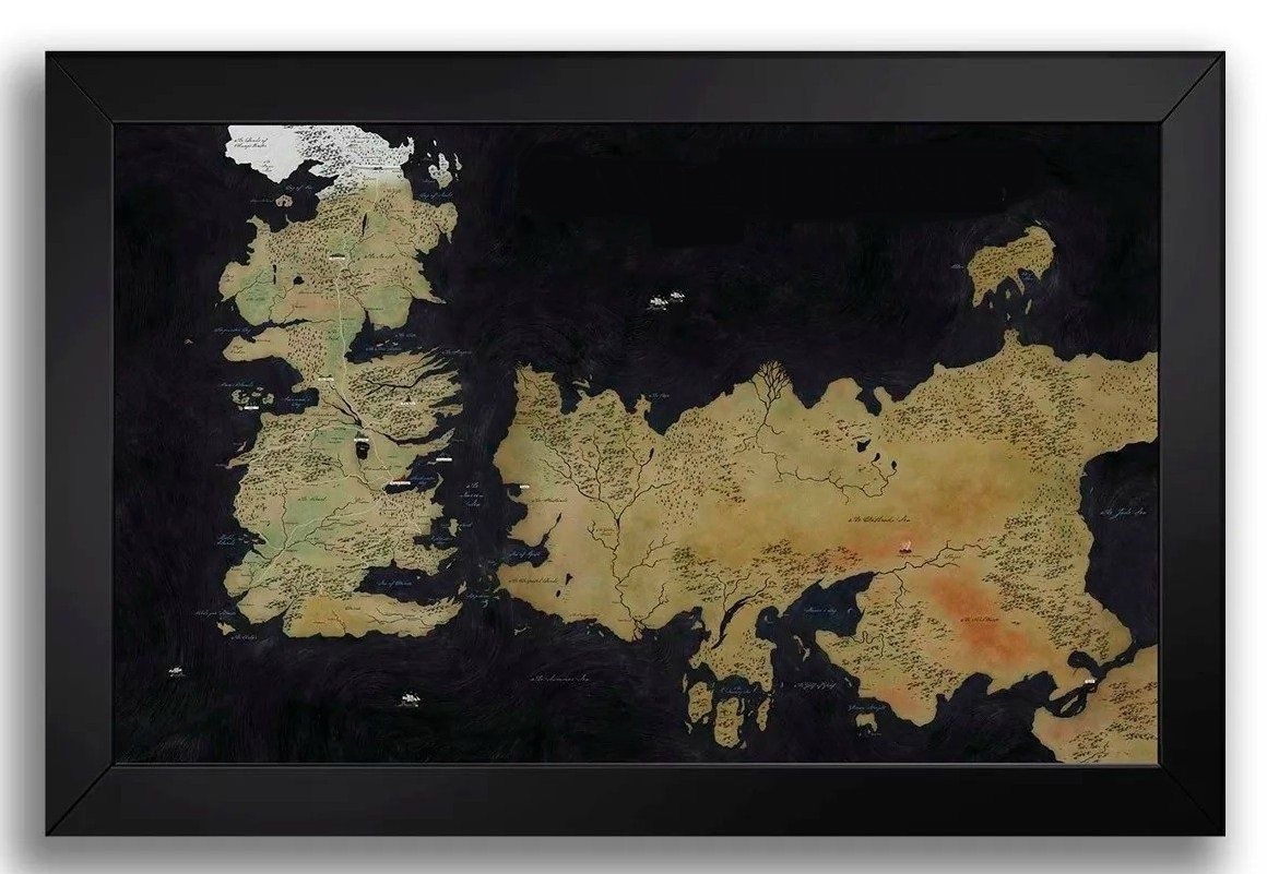 Quadro Porta Rolhas Mapa: Game Of Thrones