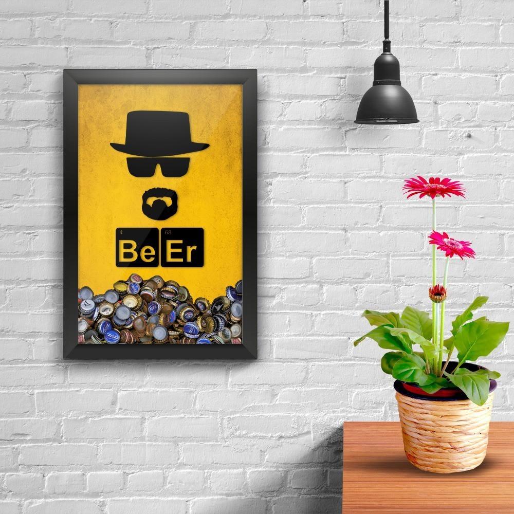 "Quadro Porta Tampinha ""Be Er"": Breaking Bad"