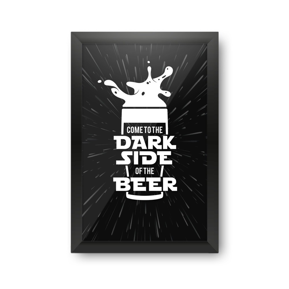 "Quadro Porta Tampinha ""Come To The Dark Side Of The Beer"": Star wars"