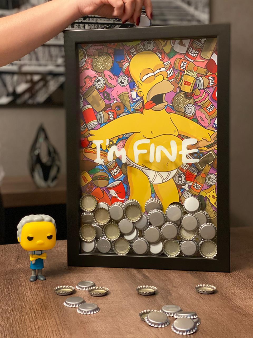 Quadro Porta Tampinhas I'm Fine: Homer Simpson