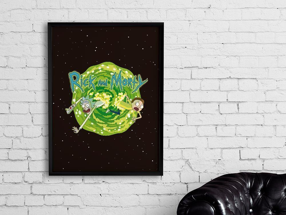 Quadro Portal: Rick and Morty