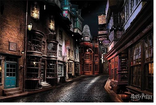Quadro (Poster) Beco Diagonal: Harry Potter - Wall Street Posters
