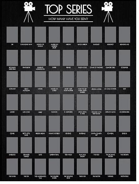 Quadro (Poster) Top Séries de Raspar - Wall Street Posters