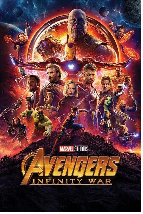 Quadro (Poster) Vingadores Guerra Infinita (Avengers Infinity War) - Wall Street Posters