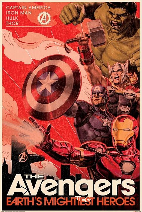 Quadro (Poster) Vingadores (The Avengers: Earth's Mightiest Heroes): Marvel Comics - Wall Street Posters