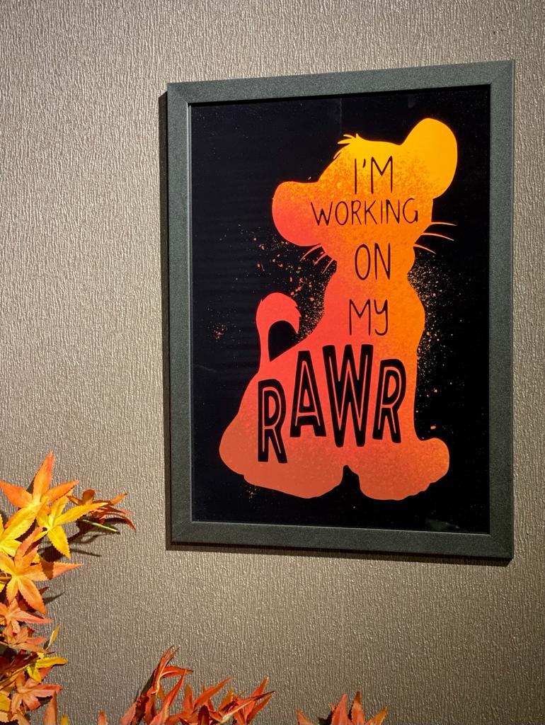 "Quadro: Simba ""I'm working on my rawr"": O Rei Leão"