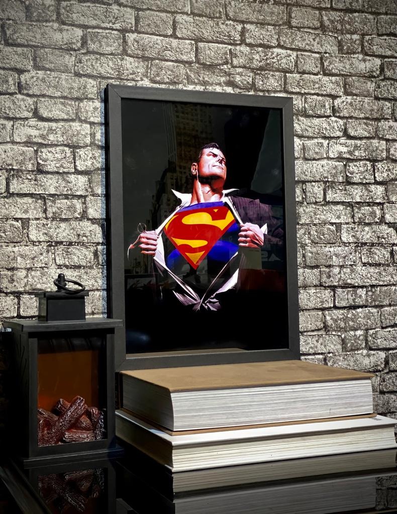 Quadro Super Homem Alex Ross Superman (46x33cm)
