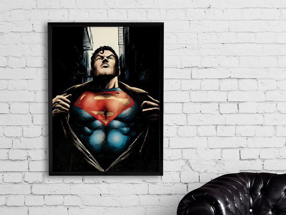 Quadro Super-Homem (Superman): Liga da Justiça (Justice League)