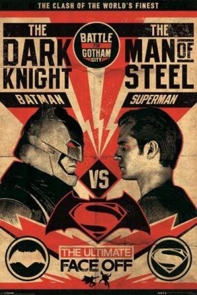 Quadro Superman v Batman Battle for Gotham City- Wall Street Posters