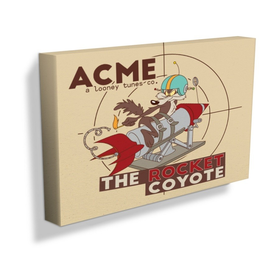 Quadro Tela Looney The Rocket Coyote