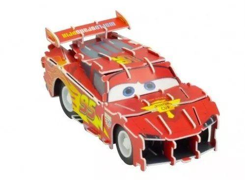 Quebra Cabeça 3D (Com Fricção) Relâmpago McQueen (Lightning McQueen): Carros (Disney) - DTC