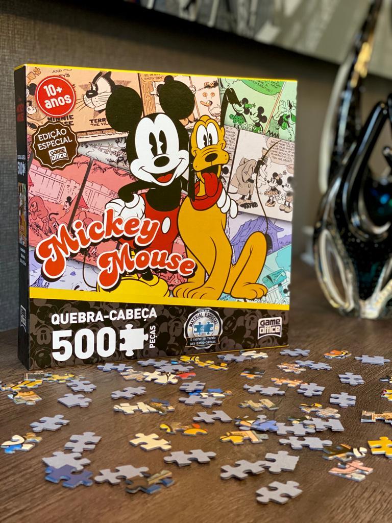 Quebra-Cabeça 500 Peças - Mickey e Pluto - Game Office