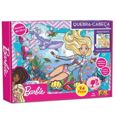 Quebra-Cabeça Barbie: 24 Peças 48 x 33 - Fun