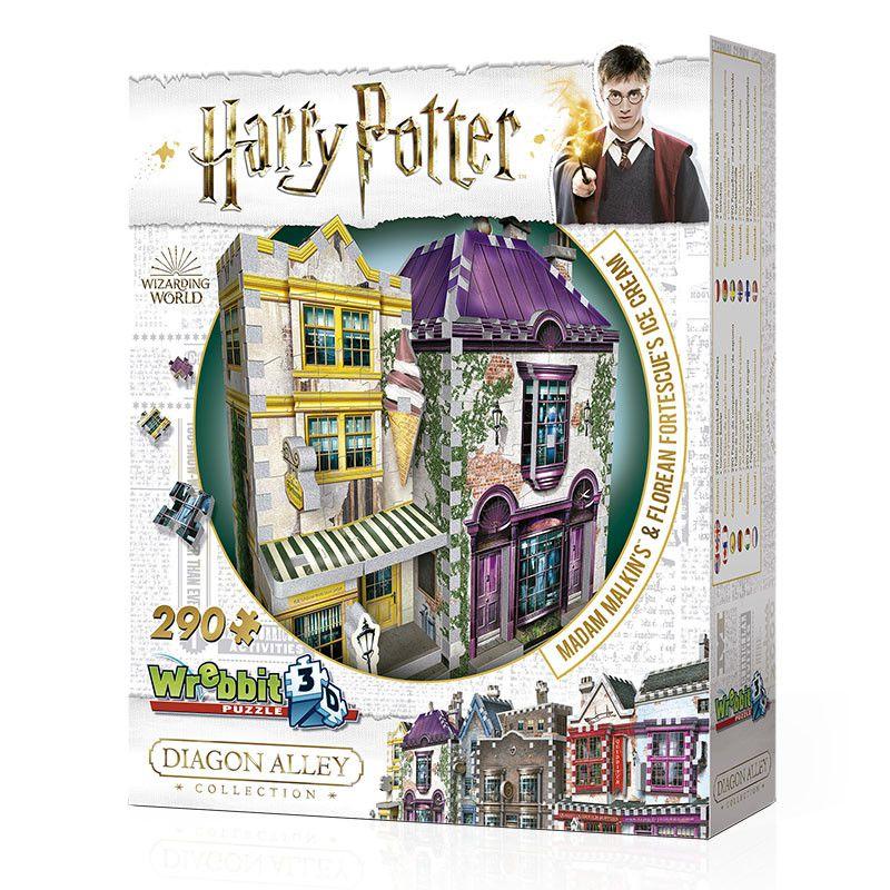 Quebra-Cabeça (Board Games - Boardgames) Madame Malkin e Sorveteria do Florean Fortescue (Harry Potter) - Galápagos Jogos