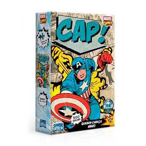 Quebra-Cabeça Capitão América (Captain America): Marvel Comics - Game Office