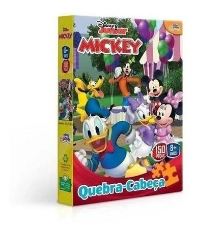 Quebra-Cabeça Mickey Disney Junior: 150 Peças Brinquedo Educativo - Hasbro