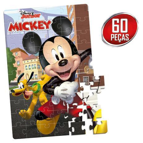 Quebra-Cabeça Mickey Disney Junior: 60 Peças Brinquedo Educativo - Hasbro