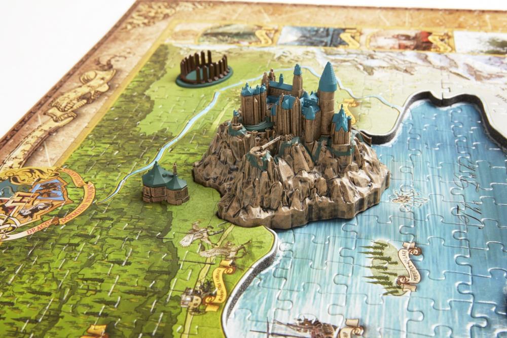 PRÉ-VENDA: Quebra-Cabeça Mundo Mágico de Hogwarts e Hogsmead (Wizarding World of Hogwarts): Harry Potter (892 Peças) - 4D CityScape