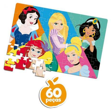 Quebra-Cabeça Princesas Disney: 60 Peças Brinquedo Educativo - Hasbro