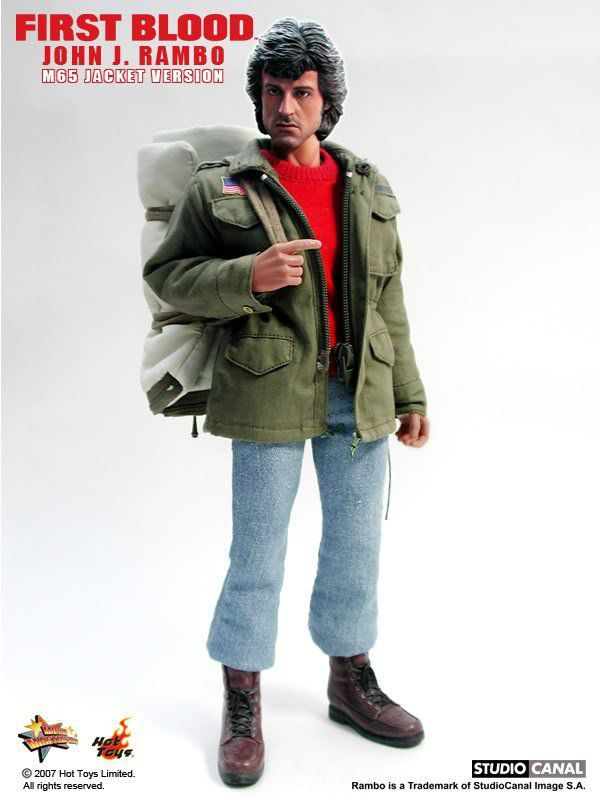 Rambo First Blood John J. Rambo M65 Jacket Version Escala 1/6 - Hot Toys