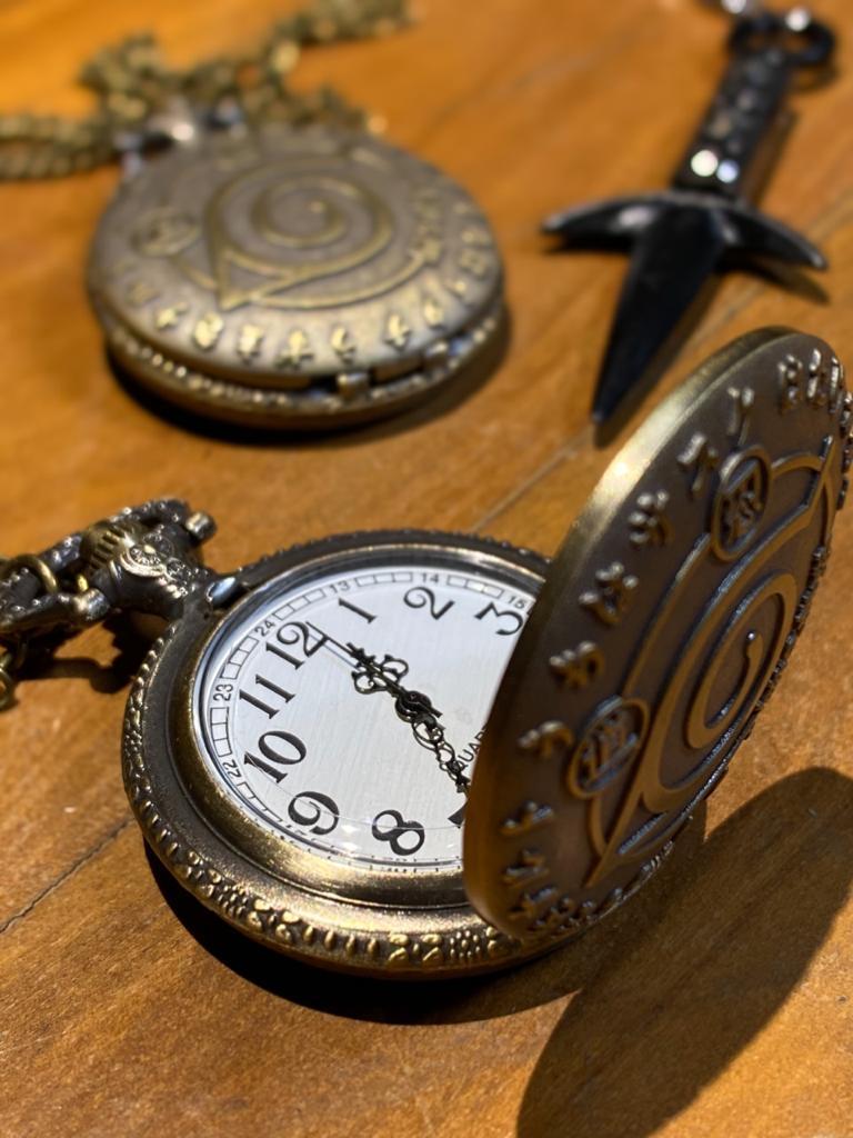 Relógio De Bolso Aldeia Da Folha: Naruto