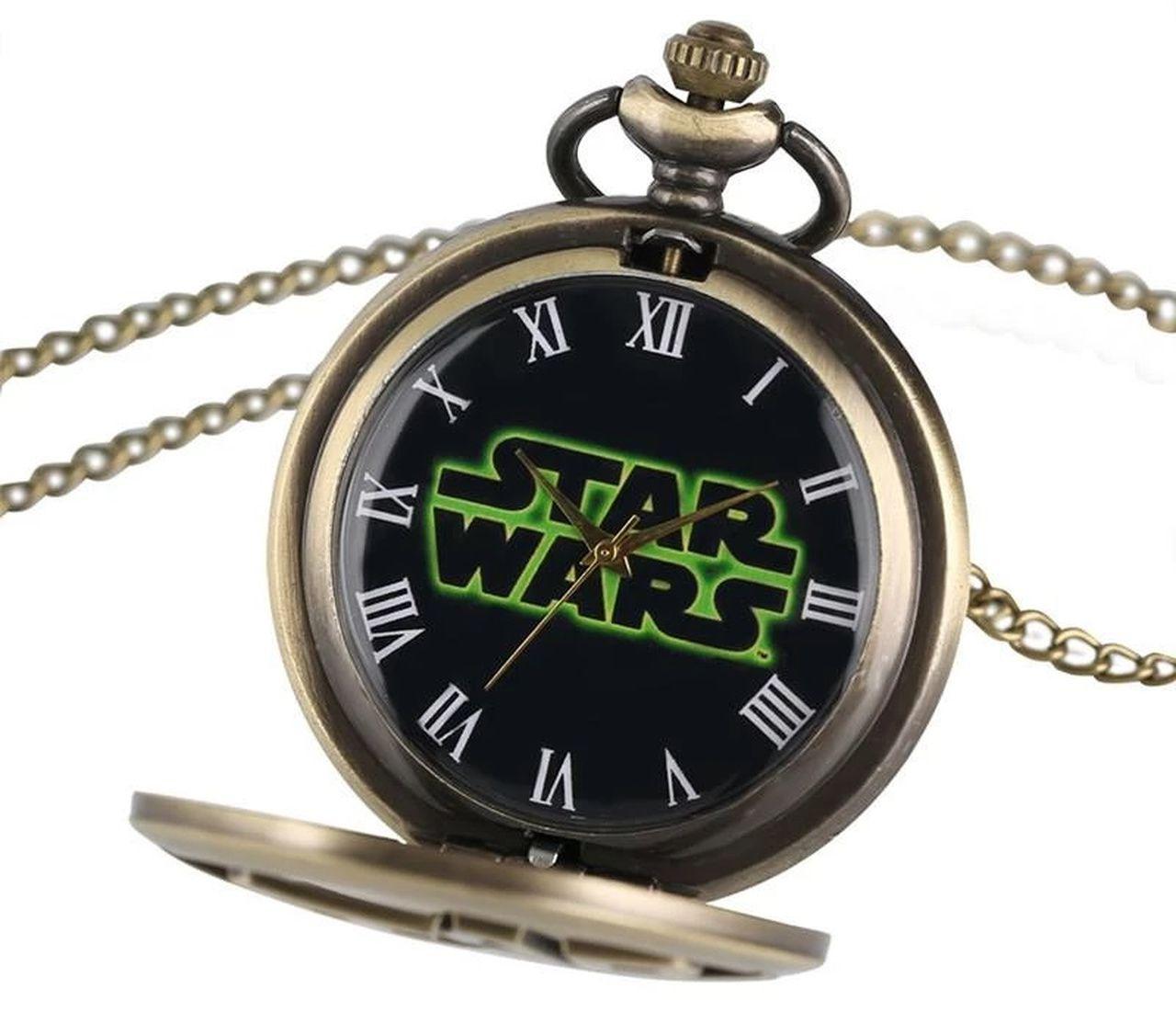Relógio de Bolso Logo Star Wars