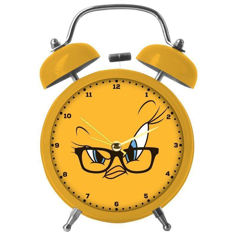 Relógio de Mesa Despertador Metal Piu Piu