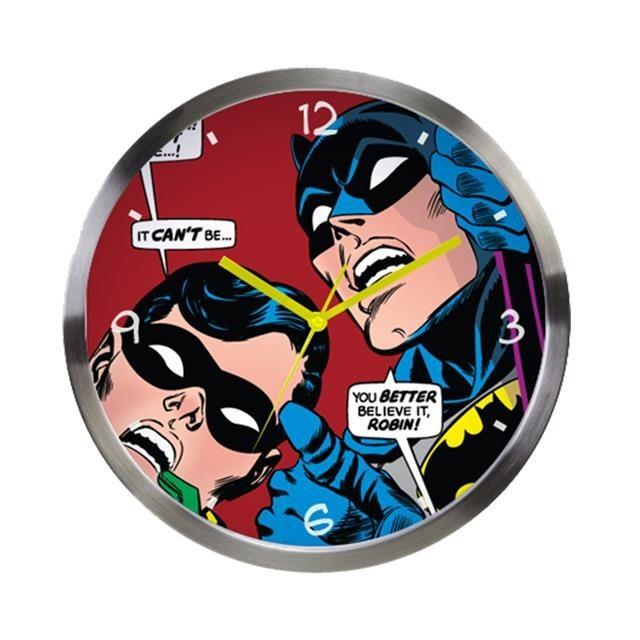 Relógio de Parede Batman e Robin Looking Up - DC Comics
