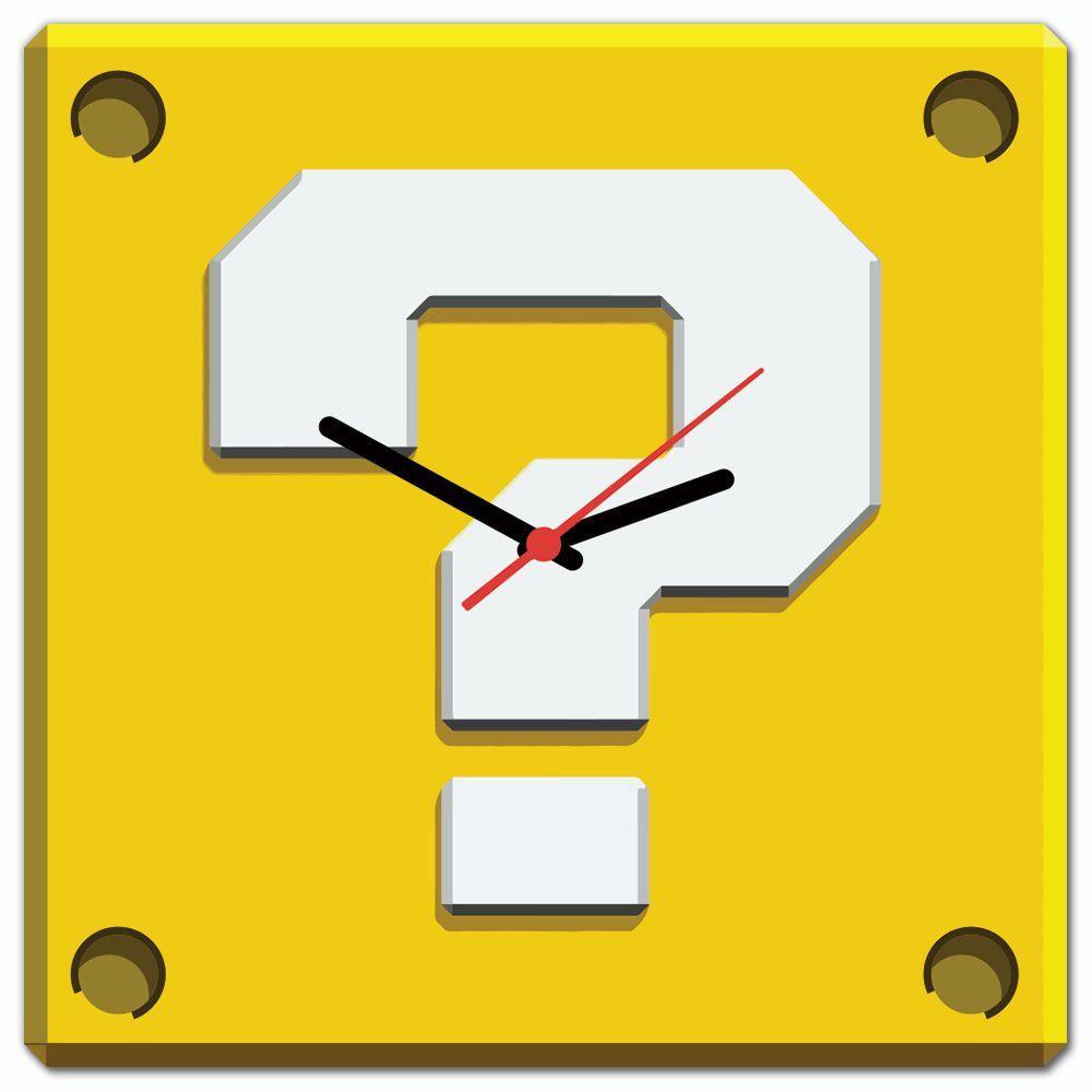 Relógio de Parede Bloco Interrogação: Super Mario Bros.