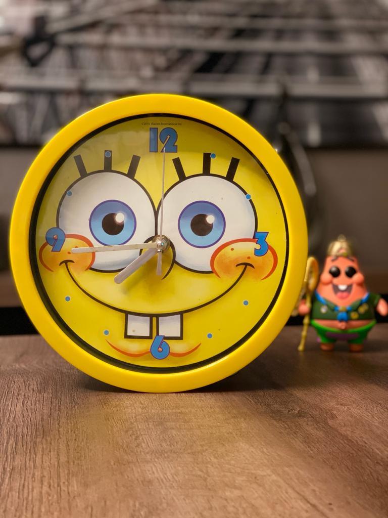 Relógio de Parede Bob Esponja: Bob Esponja