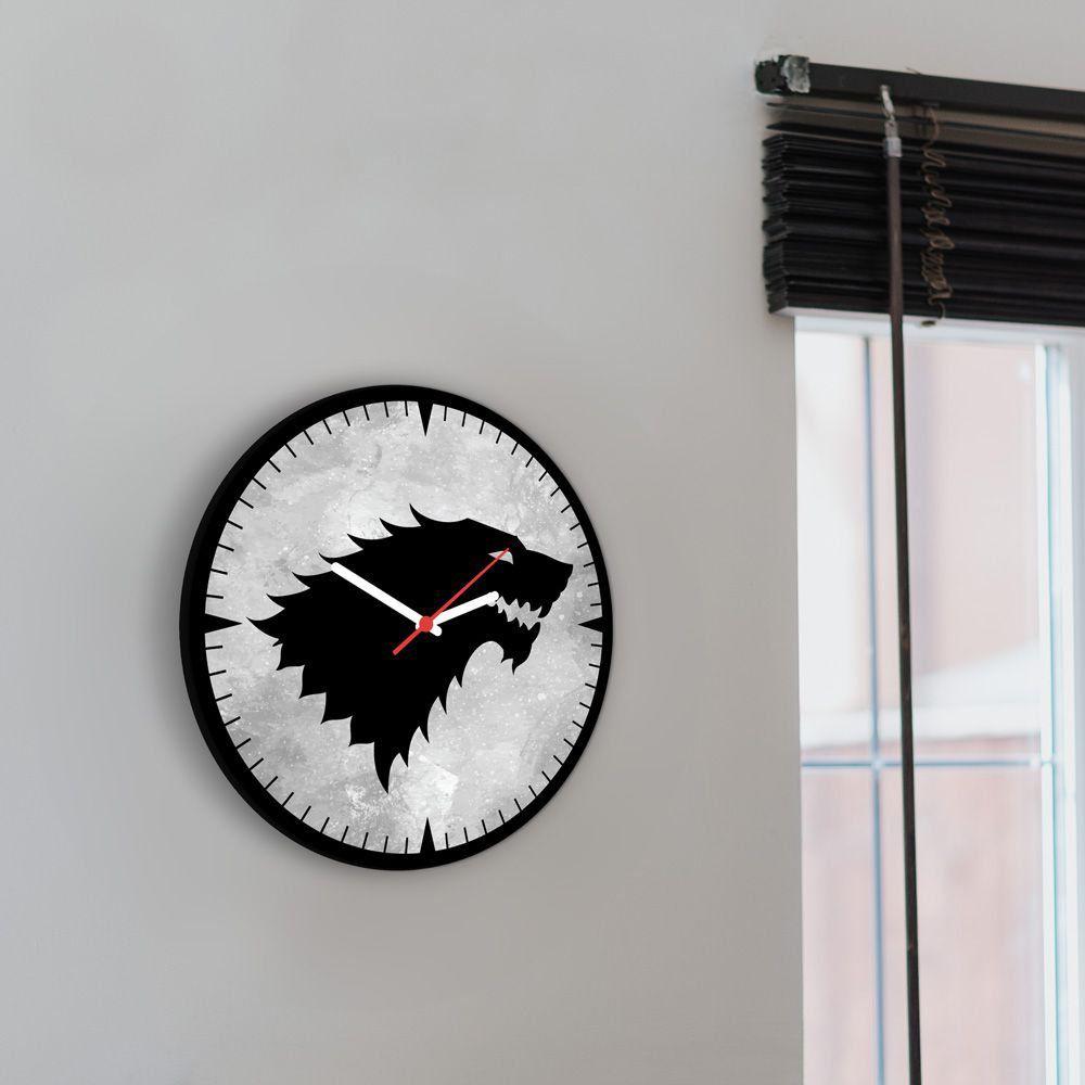 Relógio de Parede Casa Stark: Game of Thrones