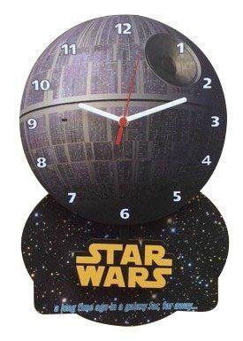 Relógio de Parede com Pêndulo DeathStar (Estrela da morte) : Star Wars