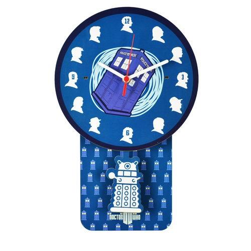 Relógio de Parede com Pêndulo Doctor Who