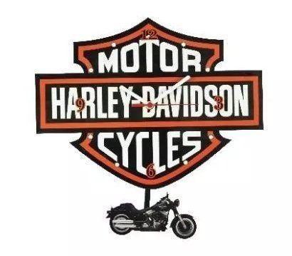 Relógio de Parede com Pêndulo Escudo Harley Davidson