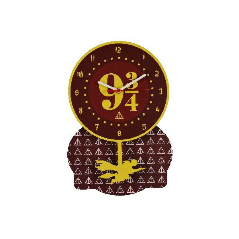 Relógio de Parede com Pêndulo Estação 9 3/4 - Harry Potter